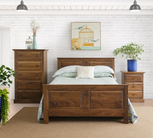 Queen Bed set shown with Special Walnut finish