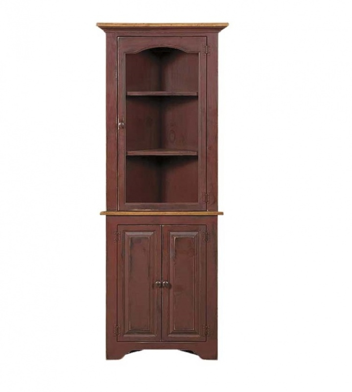 Corner Cabinet with glass door | Carriage House Furnishings