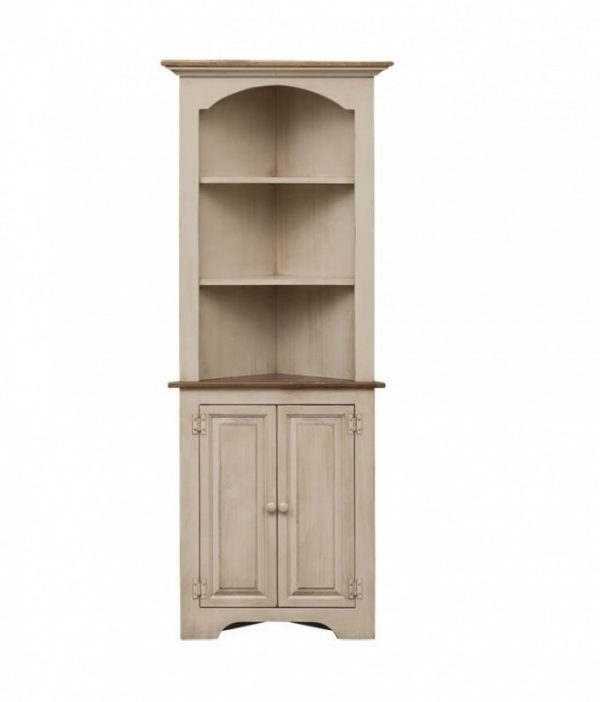 Amish White Walnut Corner Cabinet for Sale Online