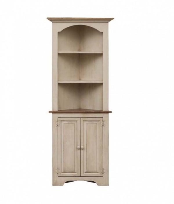 Amish White Walnut Corner Cabinet for Sale Online