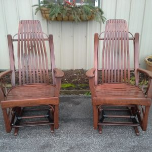 Amish Cherry Wood Rocking Chairs For Sale