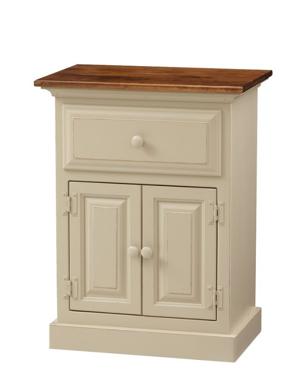 Amish 1 Drawer / 2 Door Nightstand