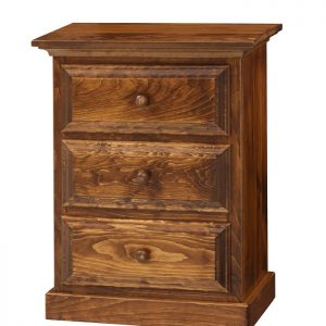 Amish 3 Drawer Nightstand