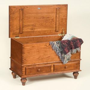 Cherry Wood Chest with Two Drawyers