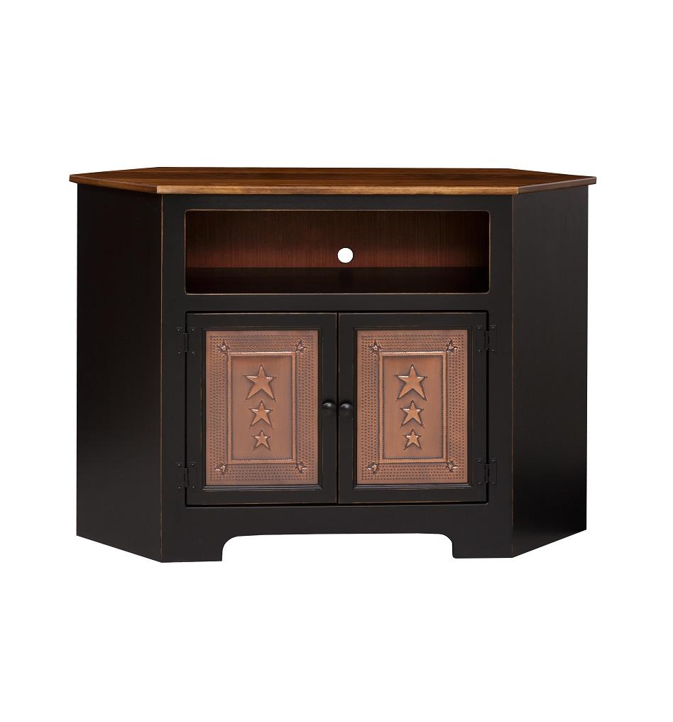 Amish Made Corner TV Cabinet