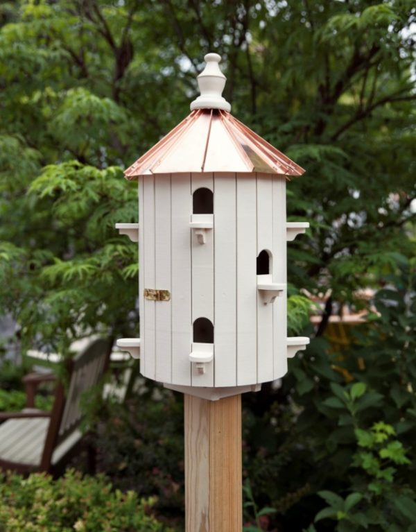Painted White Amish Birdhouse