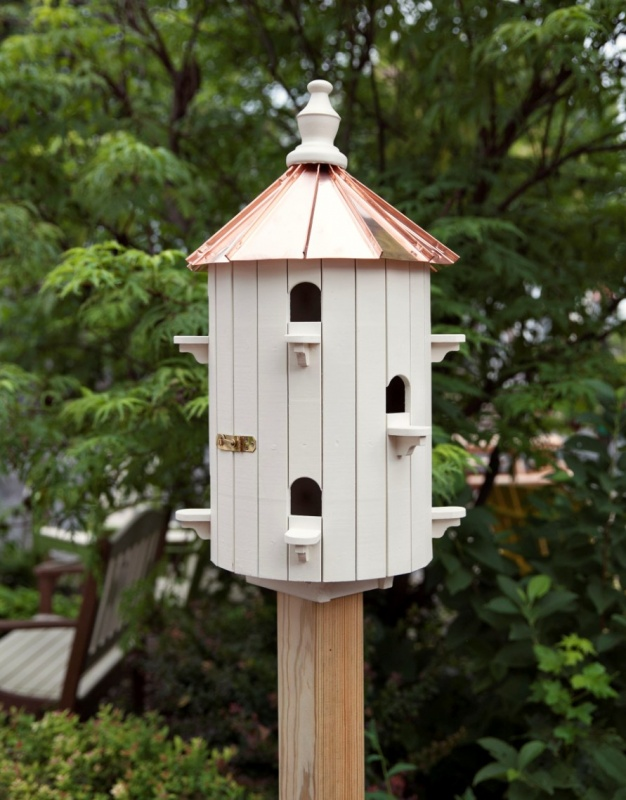 Painted White Amish Birdhouse