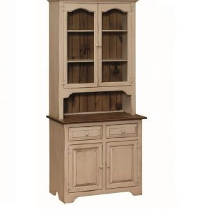2 Door Hutch with Glass Doors