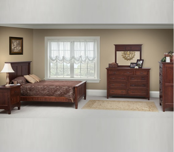 Lexington Bed Set / Solid Character Cherry Wood With Boston Finish