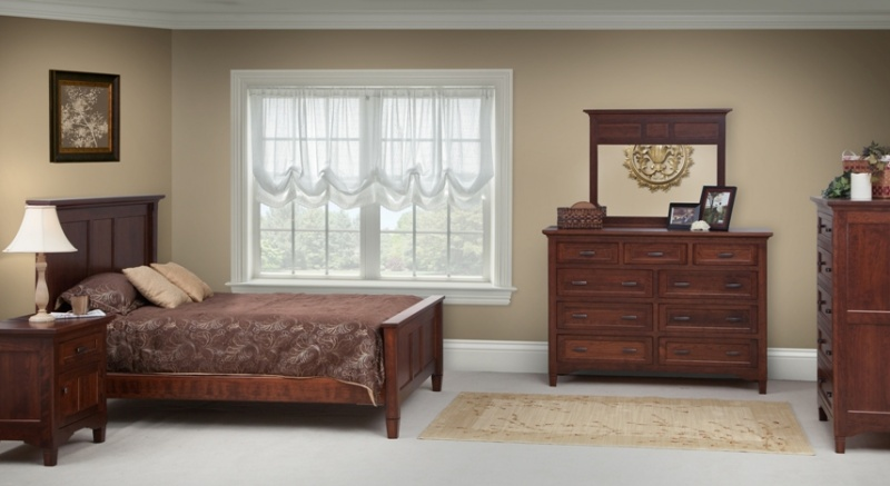lexington bed set solid charactor cherry wood carriage house furnishings