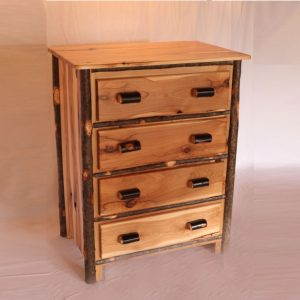 4 Drawer Hickory Chest