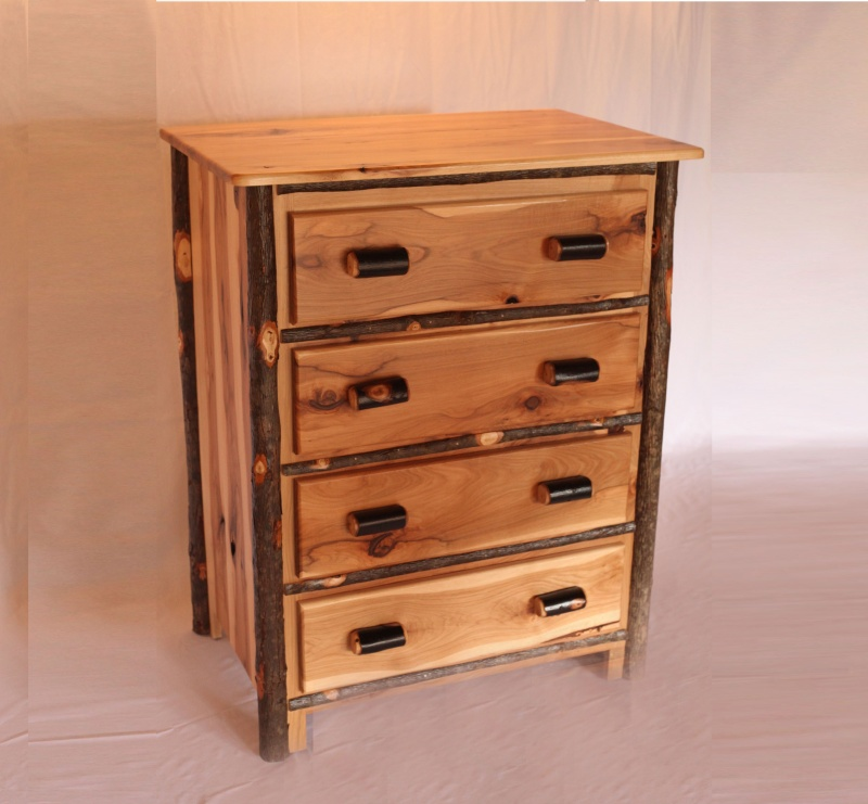 Andrew Jacksons Kitchen Cabinet: 4 Drawer Hickory Chest Natural Finish