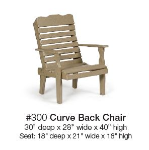 Poly Curved Back Chair Carriage House Furnishings