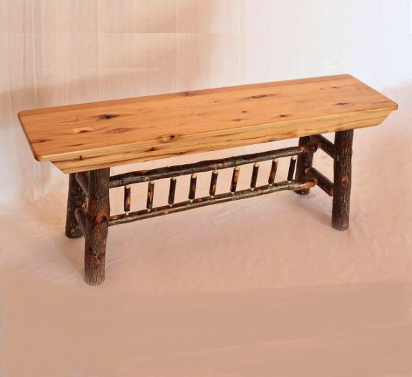 Amish Made Hickory Benches in Lancaster PA