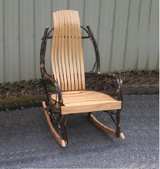 Rocking Chair with Curved Arms Outside