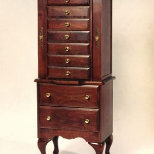 Amish Cherry Wood Jewelry Armoire, 7 small drawyers, two large drawyers