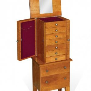 Cherry Wood Amish Jewelry Armoire