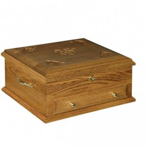 Oak Jewelry chest with roses