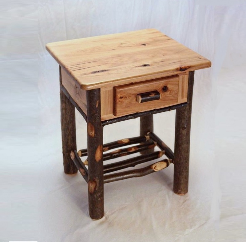 Andrew Jacksons Kitchen Cabinet: Hickory Nightstand With Drawer