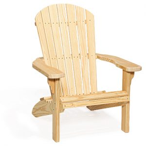 Amish Wood Fan Back Chair