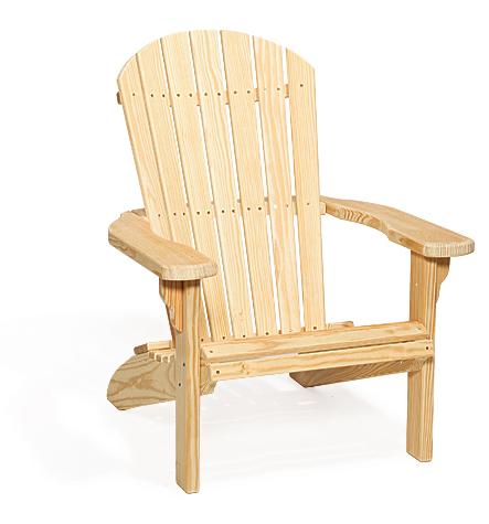 Amish Wood Fan Back Chair