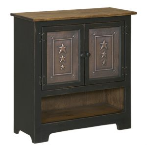 Black Wood Double Hall Cabinet
