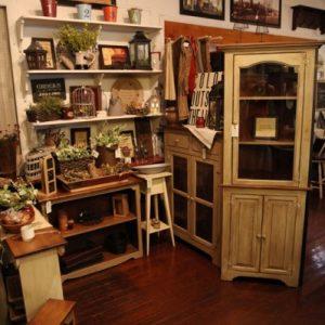 display including furniture crafts decor