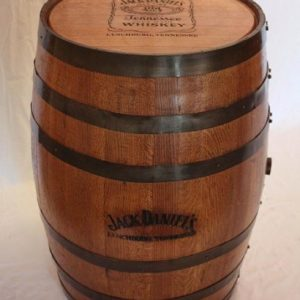 Jack Daniels Barrel with Logo on Top and Side