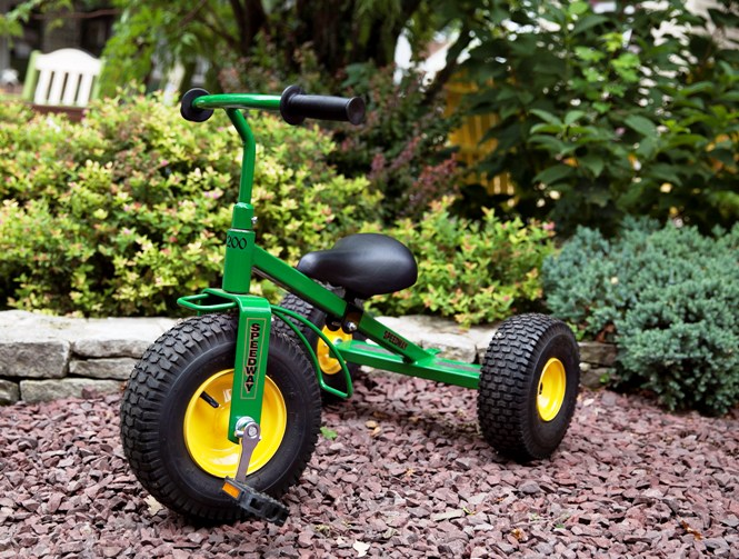 Green Trike with Yellow Rims