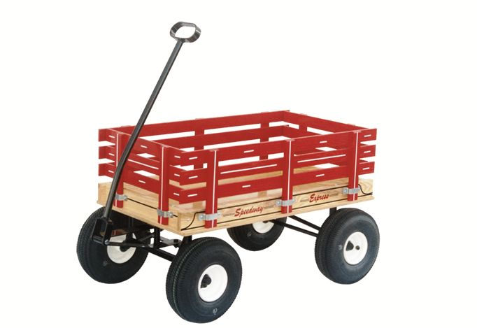 Speedway Express Red Wagon with Front Handle