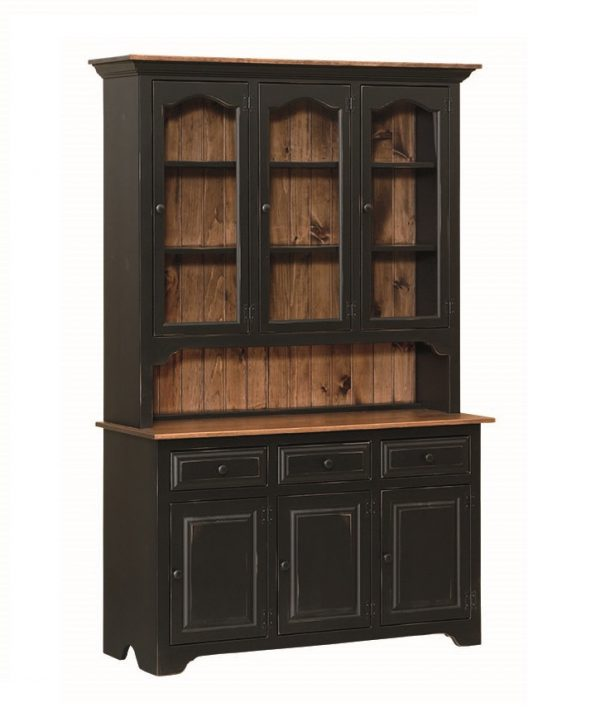 3 Door Hutch with glass doors