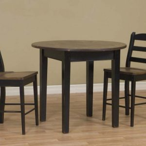 "42"" Round Table with Two Chairs"