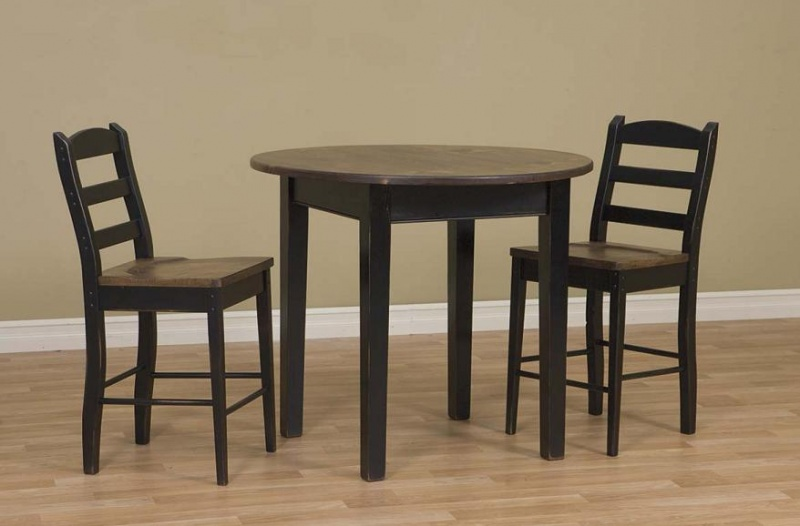 42 round pub table w shaker legs carriage house for Dining room table 60 x 36