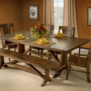 42'' x 72'' solid top Westin Table