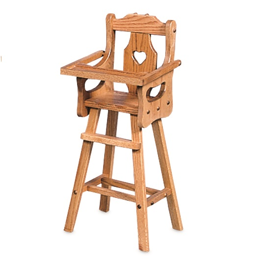 Oak Doll Highchair