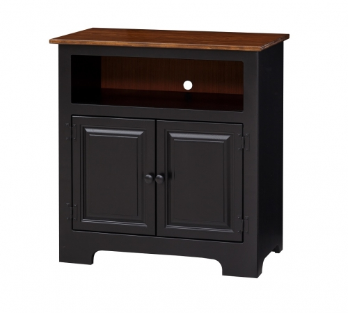 2 Door TV Cabinet w/ wood panel doors