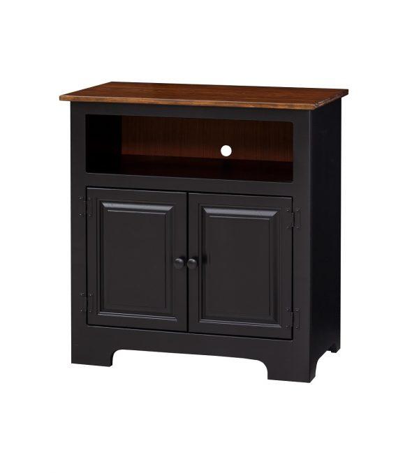 2 Door TV Cabinet w/ wood panel doors