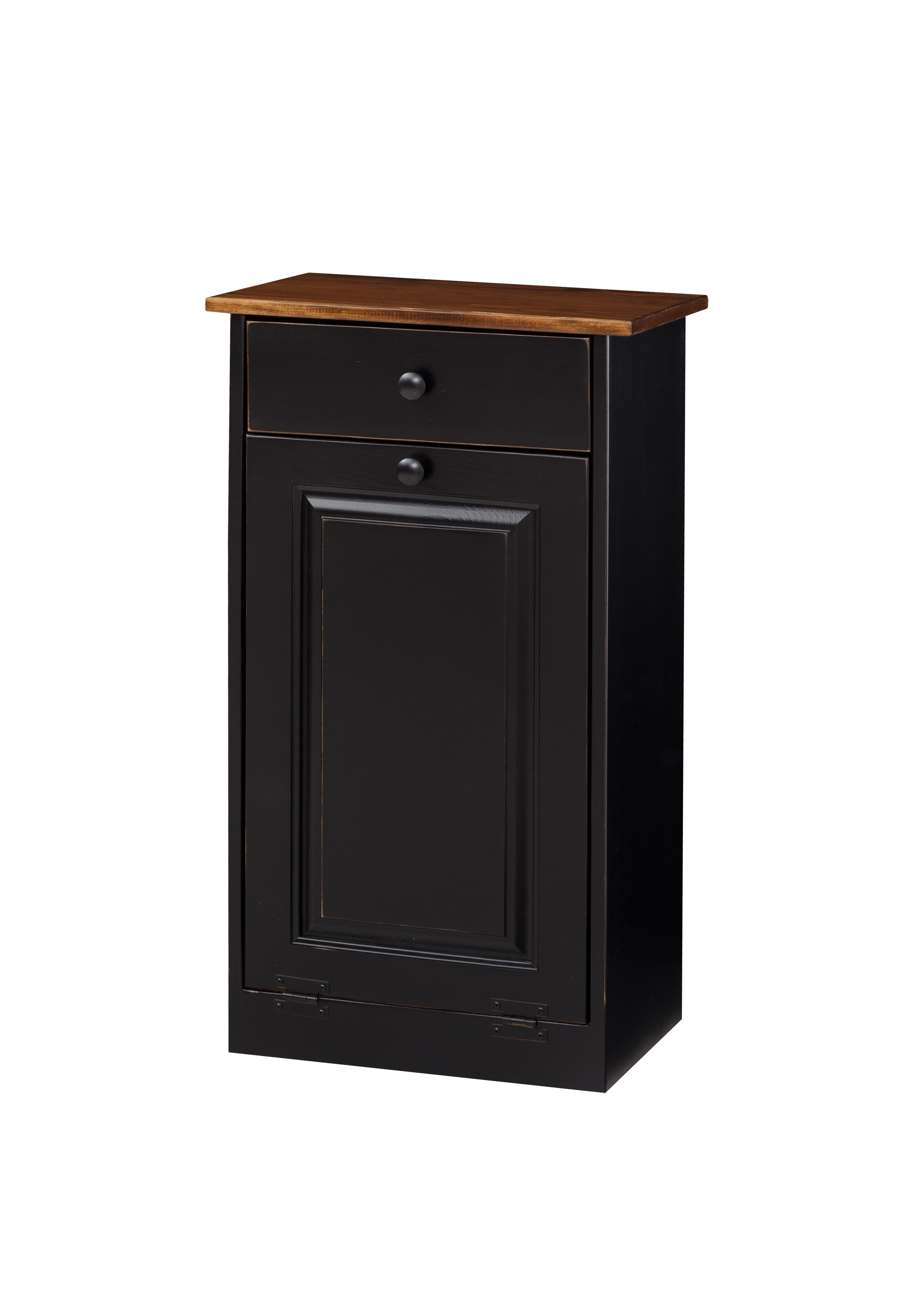 Trash Cabinet with Raised Panel & Drawer