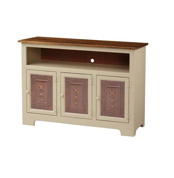 3 Door TV Cabinet w/ copper doors