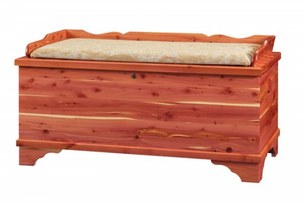 Large Cedar chest with seat rail and Cushion