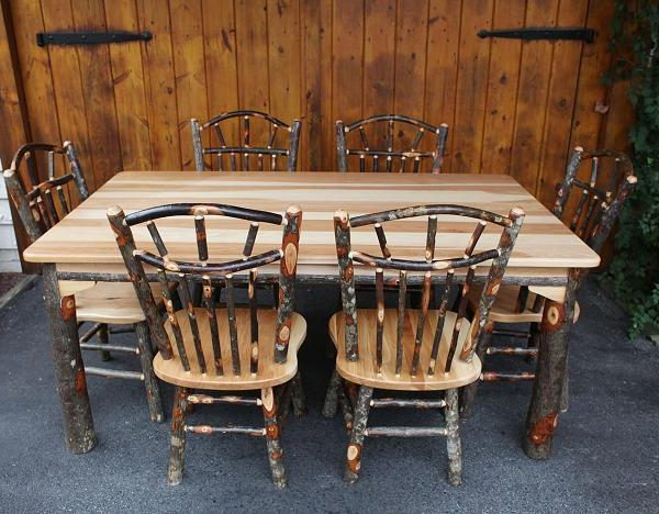 Hickory Dining Room Furniture | 42 X 72 Hickory Dining Table Carriage House Furnishings