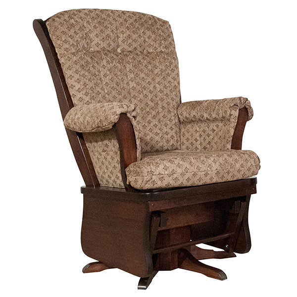 Maple Swivel upholstered Glider