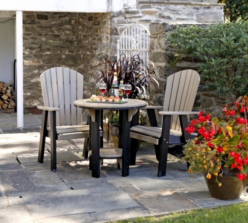 Poly Bistro Table and chair set