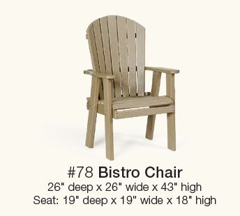 Product Description  sc 1 st  Carriage House Furnishings & Poly Bistro Table and 2 chairs | Carriage House Furnishings
