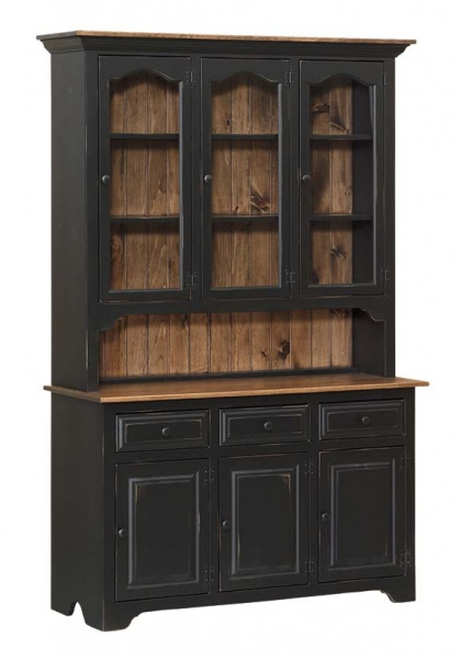 Black and Walnut Dining Room Hutch