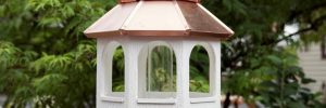 Large Bird Feeder with Copper Roof