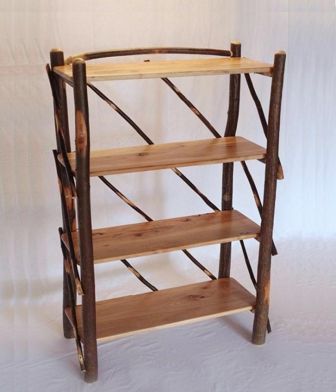 Bookshelf made from hickory